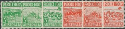AUS SG255-60 Produce Food set of 6 singles